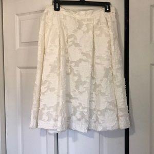 H&M Lined Off White Detail Skirt